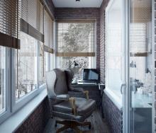 Робочій кабінет на балконі