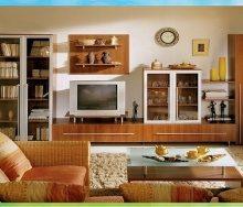 Стенки как предметы мебели в гостиной