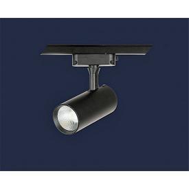 Світлодіодний світильник трековий 10вт 4500к,чорний 55mm*110mm