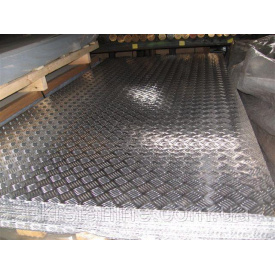 Лист алюмінієвий рифлинний квінтет 1,0х1250х2500