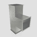 Тройник 90° прямоугольный 0.4 мм 400х200 мм