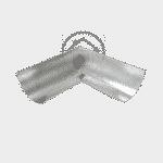 Поворот желоба 100 мм цинковый 0.4 мм
