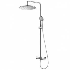 CENTRUM система душеваясмеситель-термостат для ванны верхний и ручной душ шланг полимер с метал эффектом