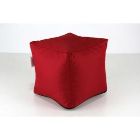 Червоний м'який пуф Кубик 25х25 см