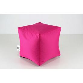 Рожевий м'який пуф Кубик 25х25 см
