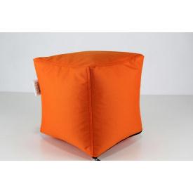 Оранжевий м'який пуф Кубик 25х25 см