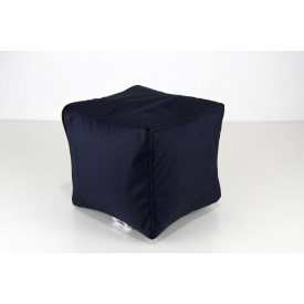 Темно-синій м'який пуф Кубик 25х25 см