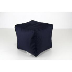 Темно-синий мягкий пуфик Кубик 25х25 см