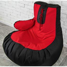 Бескаркасное кресло мешок груша пуфик XL 120х75 боксерская груша перчатка