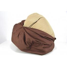 Бескаркасное кресло мешок груша XXL 130х160 коричневое