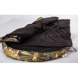 Армейский широкий спальный мешок Arvisa флис 220х84 см камуфляжный Дуб