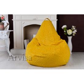 Бескаркасное кресло мешок груша XL 120х75 флок с тиснением