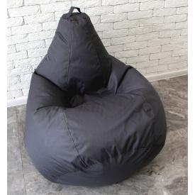 Бескаркасное кресло мешок груша XL 120х75 оксфорд 600 серое