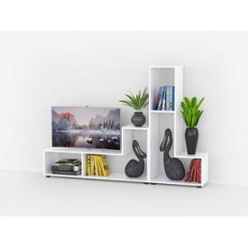 Комплект стеллажей для дома с полкой под телевизор из ДСП на 2 ячейки 590x1200x296 мм