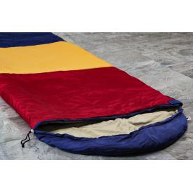 Туристический спальный мешок нейлон 220х142 см трехцветка