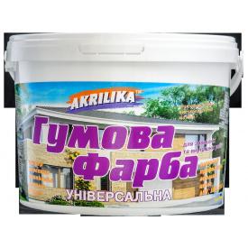 Akrilika гумова фарба біла 1,2 кг