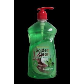 Жидкое мыло 500 мл алое вераc дозатором Golden Clean