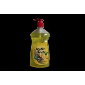 Рідке мило 500 мл лимон c дозатором Golden Clean