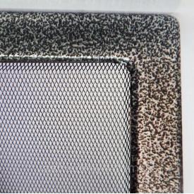 Решетка каминная крашенная 11х24 см черно-серебрянный
