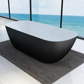 LAGUNA Ванна окремостояча з кольоровим фасадом, чорний матовий 1800x800x560