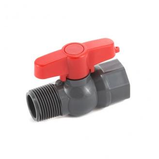 Кран кульовий Presto-PS 19 мм з зовнішньою і внутрішньою різьбою 3/4 дюйма (PFV-0125)