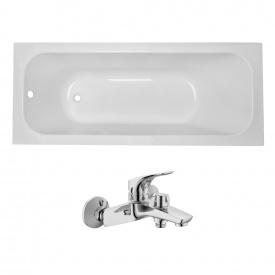 Комплект ALTEA ванна 170x70x44,8 см без ніжок + ORLANDO змішувач для ванни хром 35 мм
