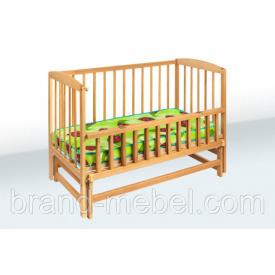 Деревянная кроватка-колыбель Гойдалка 1В217-2 льняное масло