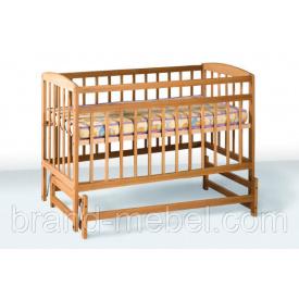 Деревянная кроватка-колыбель Гойдалка 1В28-2 льняное масло