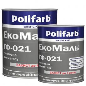 Грунтовка Polifarb ГФ-021 серая 0,9 кг