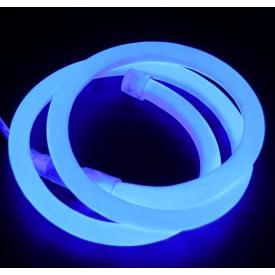 Светодиодный гибкий неон PROLUM Круглый 2835\120 IP68 220V D15, Синий