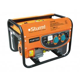 Генератор бензиновый электрогенератор Sturm PG8735E 3500 Вт ручная/электро