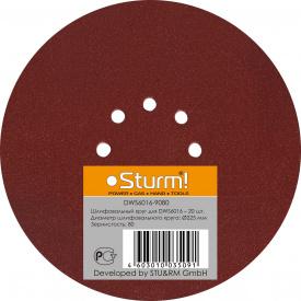Шліфпапір кругла Sturm DWS 6016-9060 225 мм зерно 060 20 шт