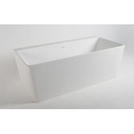 Ванна пристенная отдельностоящая каменная Solid surface 1650x800x590мм VOLLE 12-40-051