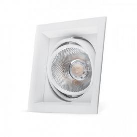 Карданний світильник Feron AL201 COB 12W білий