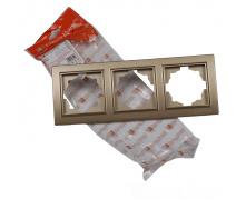 ElectroHouse Рамка тройная роскошно золотой Enzo