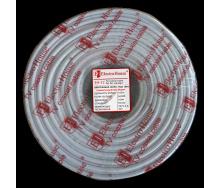 ElectroHouse Телевизионный (коаксиальный) кабель RG-6U Cu 1,02 Cu гермет фольга белый ПВХ
