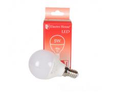 Светодиодная лампа ElectroHouse шар P45 Е14 5W 4100K 450Lm