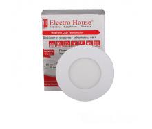 ElectroHouse LED панель кругла 3W 4100К 270Lm 90мм