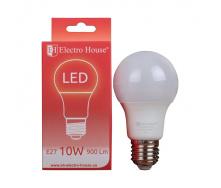 Светодиодная лампа ElectroHouse E27 10W A60 4100K 900Lm