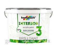 Краска интерьерная INTERIOR 3 Kompozit 1,4 кг