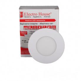 ElectroHouse LED панель круглая 3W 4100К 270Lm 90мм