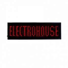 ElectroHouse Электронный Led бейдж красный