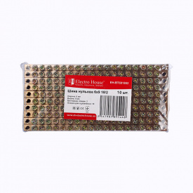 ElectroHouse Шина нулевая 6х9 18/2 100A
