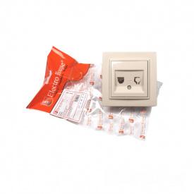 ElectroHouse Розетка телефонная латте Enzo IP22