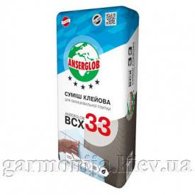 Клей для плитки Anserglob BCX 33 25 кг