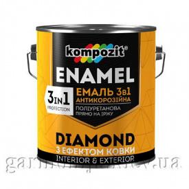 Эмаль антикоррозионная 3 в 1 DIAMOND Kompozit 2,5 л Черный