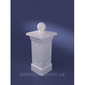 Столб опорный из искусственного мрамора 300х635 мм