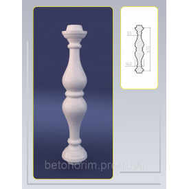 Балясина симметричная из искусственного мрамора 140х670 мм