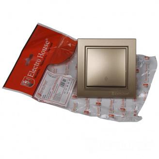 ElectroHouse Выключатель проходной Роскошно золотой Enzo IP22