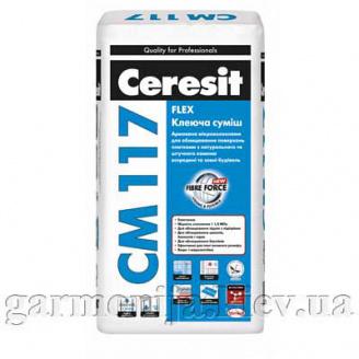 Клей для плитки эластичный Ceresit CM 117 Flex 25 кг